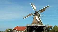 Stock Video Footage of Dutch Windmill