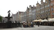 Stock Video Footage of Beautiful Gdansk Market Street, Square, Old City, Medieval Town, Time Lapse