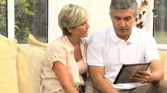 Middle Aged Couple Needing Financial Solutions - stock footage