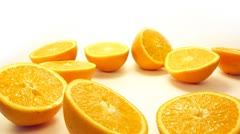 Close up of orange halves. Stock Footage