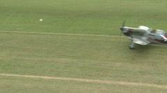 Moran Saulnier MS 406 on airfield Stock Footage