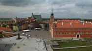 Stock Video Footage of Warsaw Old Town, Stare Miasto, Royal Palace, Castle, Poland, Europe