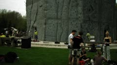 Timlapse of sportsclimbing on a artifical wall Stock Footage