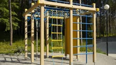 Sports playground for kids. Stock Footage