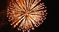 Fireworks 06 Gold SD Wide Stock Footage