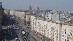Tverskaya street Stock Footage