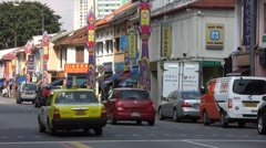 Little India Traffic Stock Footage