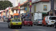 Stock Video Footage of Little India Traffic