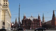 Tverskaya street traffic Stock Footage