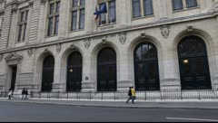 Sorbonne in Paris Stock Footage