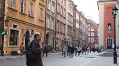 Warsaw Old Town, Stare Miasto, Royal Palace, Castle, Poland, Europe Stock Footage