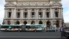 Opera Garnier in Paris Stock Footage