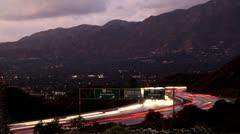Freeway Sundown (Time lapse) Stock Footage
