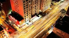 Traffic new york manhattan NYC ny timelapse Stock Footage