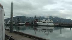 Wrangell boat marina Stock Footage