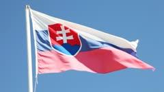 Slovak flag Stock Footage