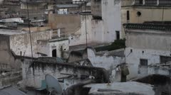 Fes, Morocco Medina Rooftops Stock Footage