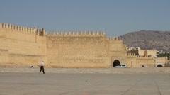 Fes, Morocco Medina Walls Stock Footage