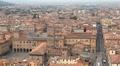 HD Aerial View of Bologna, Italy, Piazza Maggiore, Basilica di San Petronio Footage