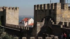 Lisbon, Portugal castle view Stock Footage