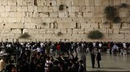 Stock Video Footage of Slihot at the Western Wall, Jerusalem