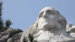 Mt. Rushmore - Tilt up to reveal Washington's profile - stock footage