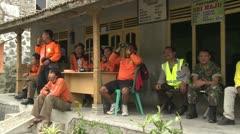 Rescue Team Monitors Activity At Merapi Volcano Stock Footage