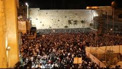 Slihot with Rabbi Ovadia Yossef at the Western Wall, Jerusalem Stock Footage