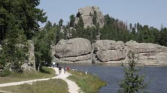 Sylvan Lake, South Dakota Stock Footage