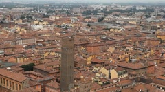 Stock Video Footage of Cattedrale di San Pietro, HD Aerial View of Bologna, Italy, Bologna Cathedral