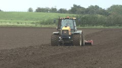 Tilling, front view. - stock footage