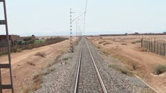 Morocco train line Stock Footage