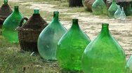 Stock Video Footage of Old wine bottles from Tuscany, Italy
