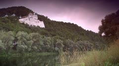 Orthodox rock monastery in Svyatogorsk, Ukraine Stock Footage