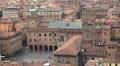 Basilica di San Petronio, HD Aerial View of Bologna, Italy, Piazza Maggiore Footage