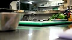 Making a vegetarian pasta Stock Footage