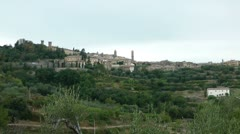 City in Tuscany - stock footage