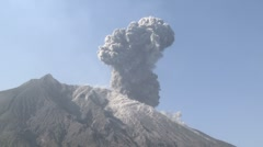 Explosive Eruption From Sakurajima Volcano Japan Stock Footage