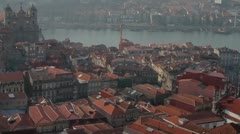 Porto, Portugal wide town view Stock Footage