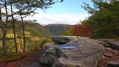 A  view of the WV Mountains Stock Footage