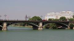 Sevilla, Spain bridge Stock Footage