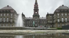 Beautiful Christiansborg Palace Stock Footage