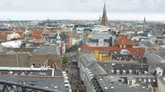 Copenhagen from Rundetaarn tower, time lapse Stock Footage