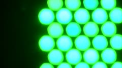 Flashing lights on a background for music video. - stock footage