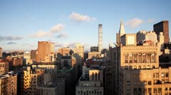 new york skyline manhattan NYC ny timelapse - stock footage