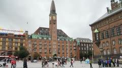 Tourist at Radhusplatsen Stock Footage