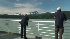 Alaska State Ferry, Ketchikan to Wrangell, picture to remember - stock footage