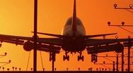 Jumbo Jet Landing Crop with audio Stock Footage