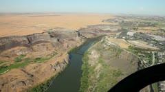 Snake River Aerial Perrine Bridge 2 Stock Footage