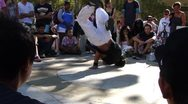 Hip-Hop breakdancers compete  1761 Stock Footage